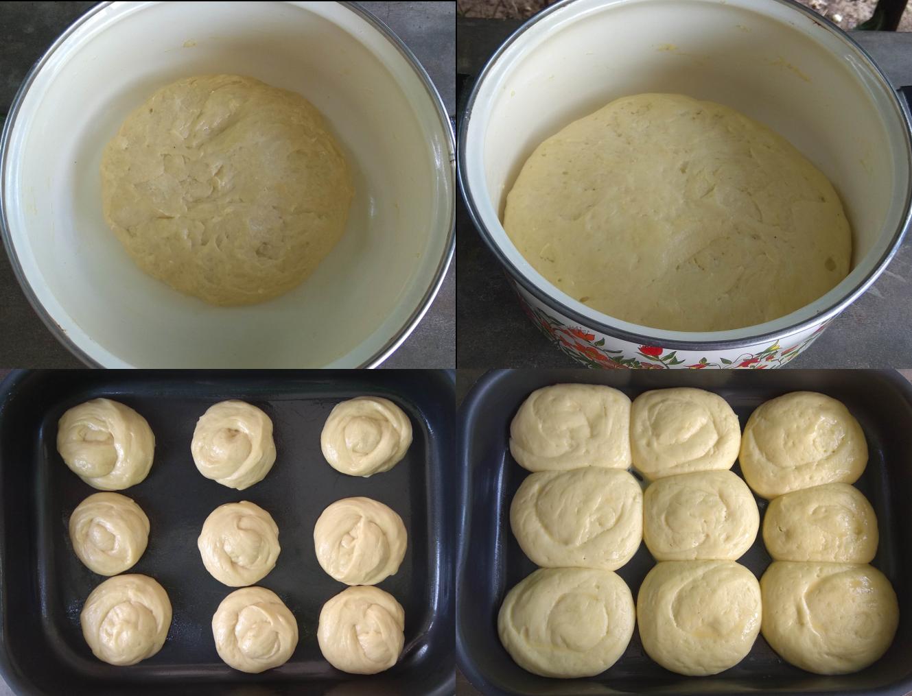 Bread dough, proving bread, yeast