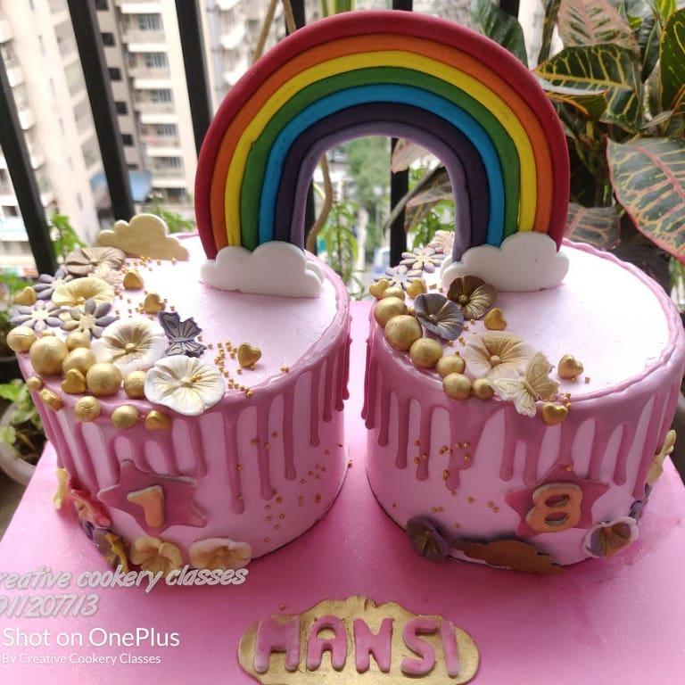 Rainbow theme cake by Kavita Gupta